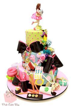 Pink Cake Box's Bat Mitzvah cake for Anna