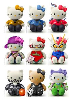 Hello Kitty Star Trek to Marvels models. How cool is this?