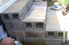 Cinder Block Steps http://www.thriftyfun.com/tf/Home_Improvement/Miscellaneous/Making-Steps-With-Cinder-Blocks.html