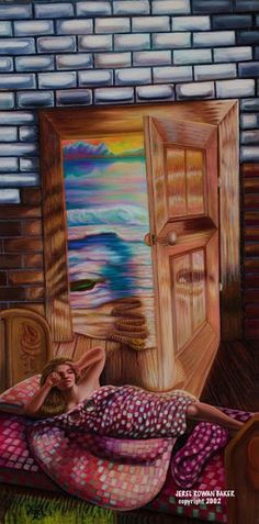Jerel Rowan Baker and the art of illusion '' I am puzzled therefore I paint. Optical Illusion Paintings, Optical Illusions Pictures, Illusion Pictures, Art Optical, Images D'art, Artwork Images, Art Pictures, Art Fractal, Pop Art