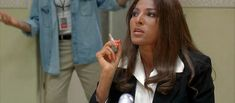 Pam Grier as Jackie Brown Quentin Tarantino Films, Ghostbusters 1984, Elmore Leonard, Pam Grier, Jackie Brown, Foxy Brown, American Crime, Women Smoking, Film Review