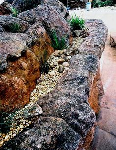 How to make hollow artificial rock and garden boulders. Create your ideal landscape with our DVD guide to making hollow artificial rocks, planters & Landscaping With Rocks, Garden Landscaping, Fake Rock, Rock Rock, Rock Planters, Artificial Rocks, Papercrete, Indoor Trees, Pond Water Features