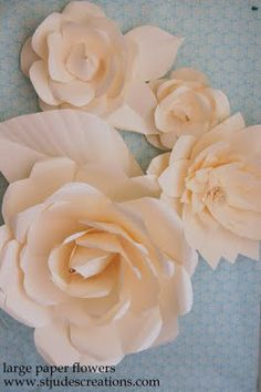leather chanel camelia inspired paper flowers