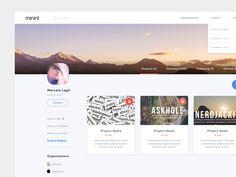 User Profile UI by James Alonso #Design Popular #Dribbble #shots