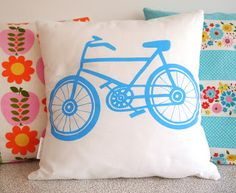 NEW Screen Printed Bike Cushions by Jane Foster - July Giveaway