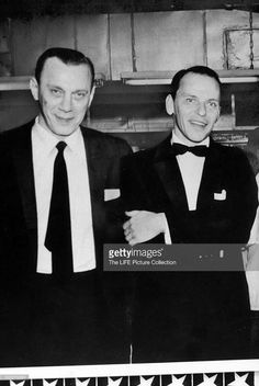 Gambino crime family underboss Aniello Dellacroce and Frank Sinatra.