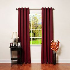 @Overstock - These light-blocking, thermal-insulated curtain panels are featured in a variety of warm colors. The modern look with soft lines makes your living space cozy, the 100-percent polyester construction makes these blackout curtains easy to clean.http://www.overstock.com/Home-Garden/Grommet-Top-Thermal-Insulated-84-inch-Blackout-Curtain-Panel-Pair/4359827/product.html?CID=214117 $62.04