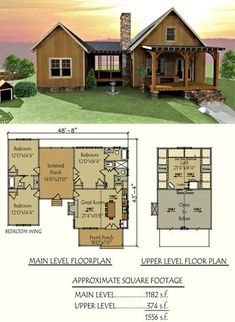 Our popular Camp Creek Dog Trot design #houseplans #cabins #floorplans