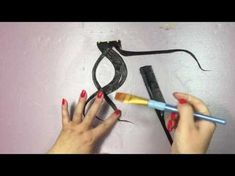 How to make a hairpiece for UpDo - YouTube