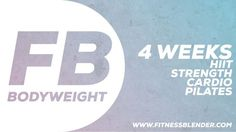 NEW: 4 Week Bodyweight-Only Workout Program