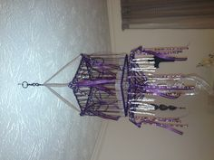 Small birdcage AFTER...a mini Chandelier