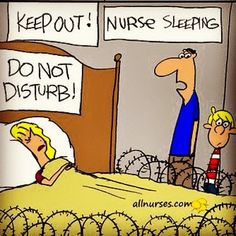 Night Shift Nurse Sleeping!