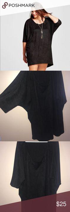 K. By Kersh dolman dress Women's Plus Size Oversized Dolman Sleeve Crew Neck Dress Black - K by Kersh  Worn once. SO comfy!!!! Excellent used condition Dresses