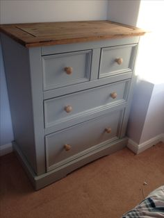 Unit painted in farrow and ball lamp room Grey