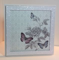 Card designed by Emma Smith Butterfly Kisses, Butterfly Cards, Craftwork Cards, General Crafts, Birthday Cards, Card Making, Gallery Wall, Communion, Paper