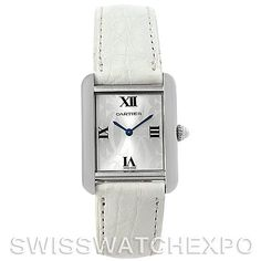 Cartier Tank Solo Ladies Steel Watch Limited Edition W1019555 -- contemporary but definitively Cartier!