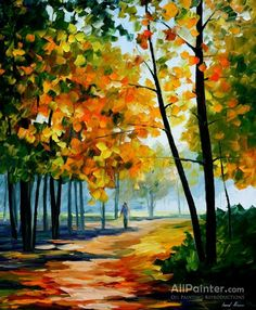 Leonid Afremov Noon In The Forest oil painting reproductions for sale
