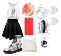 """""""Outfit for story"""" by alissa33 ❤ liked on Polyvore featuring Dr. Martens, Apple, Topshop, Avenue and Tiffany & Co."""