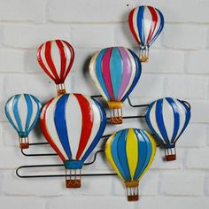 vintage home decor metal craft wall art  wrought iron hot air balloon for the old mural  paintings decorate the wall decora $71.19