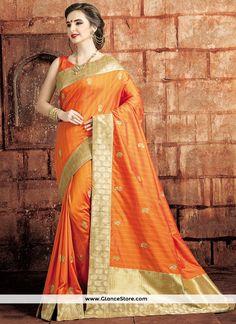 Picturesque Art Raw Silk Weaving Work Designer Traditional Saree
