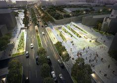 Anuncian propuestas ganadoras de nuevo espacio cultural para Seúl,Time Connector. Imagen cortesía de Sejongdaero Competition