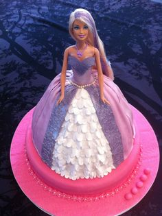 Barbie Cake 3 - Another Barbie princess cake for a cute 5 year old girl
