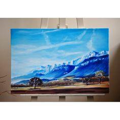 Obraz na płótnie o wymiarach 50x70 cm, malowany farbami olejnymi.  Oryginalny dodatek do wnętrza, ozdobiTwoją ścianę i wprowadzi element nostalgii i romantyzmu :)