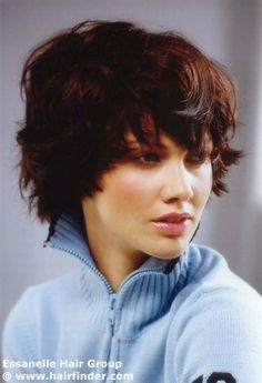 short for the thick & wavy hair (reco blow-dry and styling wax)