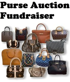 Purse Auction Fundraiser Ideas - 5 fun ways to do purse auctions. More fun silent auction ideas: www.FundraiserHelp.com/auction/