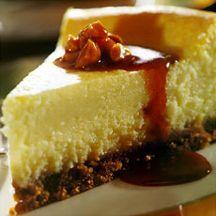 Godiva White Chocolate Cheesecake with Macadamia Caramel Sauce