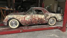 Stationary Since '68: 1954 Chevy Corvette - http://barnfinds.com/stationary-since-68-1954-chevy-corvette/