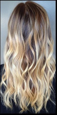 This gorgeous mix of blonde highlights placed throughout a natural and soft brunette base is stunning.