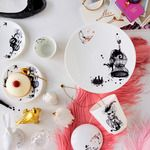 The Mademoiselle Oiseau Dinnerware set from Rorstrand is a whimsical way to bring the catwalk to the dinner table Scandinavian Living, Scandinavian Design, Home Interior, Modern Interior Design, Paris Chic, Home And Deco, Cool Stuff, Parisian, Tea Party