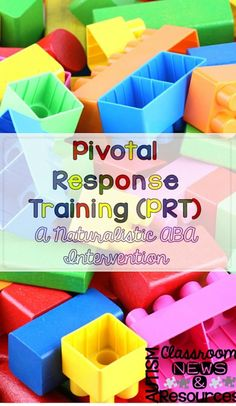 Pivotal Response Training (PRT): A Naturalistic Instruction Strategy for Autism.  If you are not familiar with this strategy this is a great tool to add to your tool box!