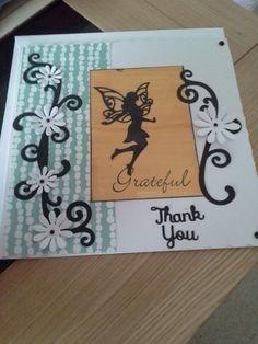 another thank you card . made with spellbinders and joy crafts dies.