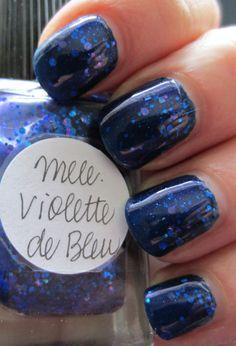 Lynnderella Mlle. Violette de Bleu over SpaRitual Blue Moon