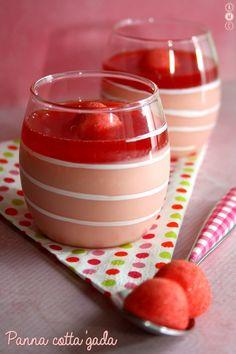 Panna cotta aux bonbons fraises Tagada. Une recette expresse et simplissime ;)