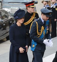 Prince William and Prince Harry arriving for a commemoration service to mark the end of combat operations in Afghanistan