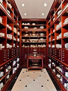 I might like the wood better in this butler's pantry.  haha its celine dions house!