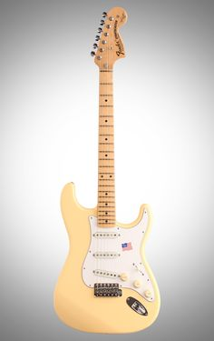 Fender Yngwie Malmsteen Stratocaster Electric Guitar (Maple with Case), Vintage White www.lessonator.com
