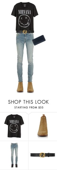"""""""Untitled #29"""" by qtran2420 ❤ liked on Polyvore featuring Gap, Yves Saint Laurent, Gucci, men's fashion and menswear"""