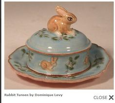 Dominique Levy Tureen from Swan House Miniatures.She does lovely miniature Majolica