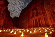 """13 Places to Visit . . . The City of Petra (The Rose City)This massive archeological site is famous for being built by carving entire buildings out of a rock face. Sometimes called the """"Rose City"""" for the natural color of the stone, Petra is receding because of a mixture of erosion and saltwater damage"""