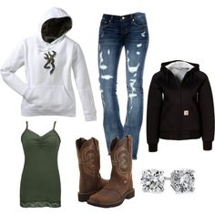 A fashion look from February 2013 featuring BKE tops, Cult of Individuality jeans and Carhartt activewear. Browse and shop related looks. Camo Outfits, Cowgirl Outfits, Western Outfits, Western Wear, Fashion Outfits, Fashion Ideas, Country Style Outfits, Country Fashion, Country Wear
