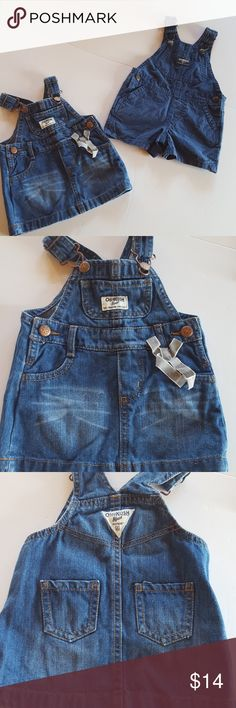 Oshkosh Bgosh 2 cute pieces dress and shorts Oshkosh Bgosh 2 cute pieces denim dress with original hardware and checkerd short overalls with genuine hardware she will be adorable in these 2 for the price of one Oshkosh Bgosh Dresses Casual