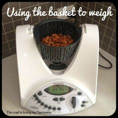 I love this tip when my jug is dirty or being used elsewhere. Just pop your basket or any other bowl that will fit in the gap in place. Press the scales button to tare it. Then pop in what you need to weigh Vegetarian Sweets, Cooking Tips, Cooking Recipes, Non Perishable, Meals For One, Recipe Using, Gluten Free Recipes, Mixer, Helpful Hints
