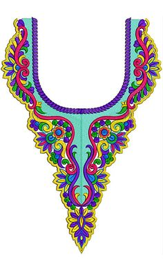 Necklines - Machine Embroidery Designs For Neck