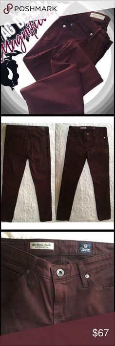 """AG Aubergine Micro-Suede AG Aubergine Micro-Suede; AG """"Stevie"""" style; super soft micro-suede; cotton/poly blend; AG Adriano Goldschmied Jeans"""
