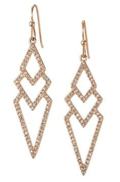 These rose gold earrings for women take studs to the next level with their spear shape. The Rose Gold Pave Spear Earrings from Stella & Dot are stunning.