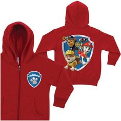 Personalized PAW Patrol To the Rescue Red Zip-Up Toddler Boys' Hoodie, Toddler Boy's, Size: 5 - 6 Years